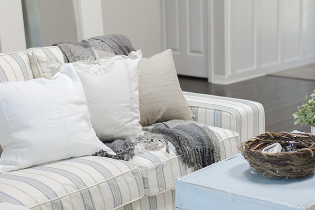 Kivik sofa Cover in English Stripe (Mint Fabric discontinued)-2