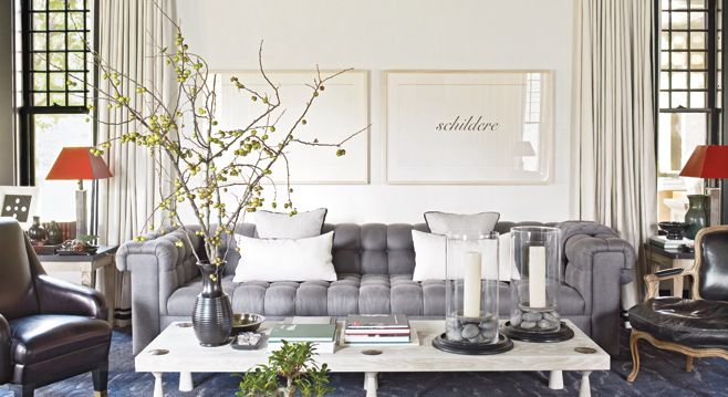 Grey Sofas | Winter's Living Room