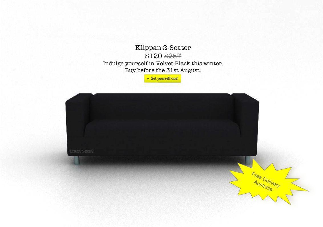 ikea klippan comfort works black velvet special blog de. Black Bedroom Furniture Sets. Home Design Ideas
