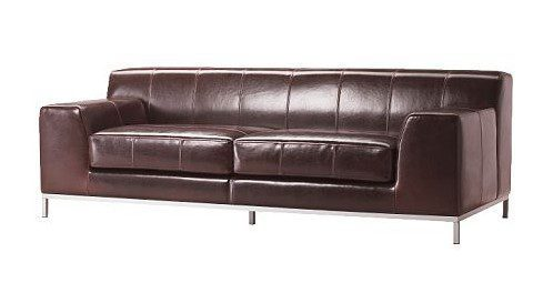kramfors frasig original ikea leather sofa