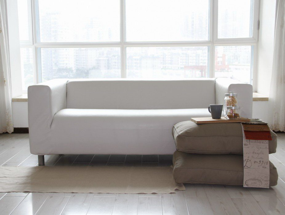 Leather Klippan Sofa Cover Comfort Works White