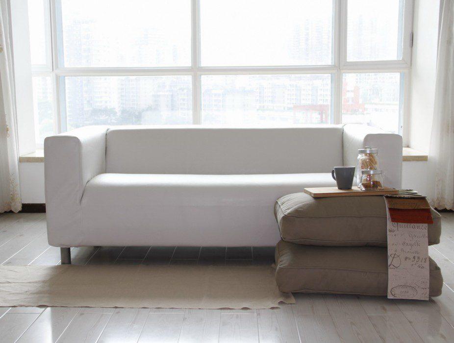 Housse de canapé Klippan en Cuir Bycast Modena White