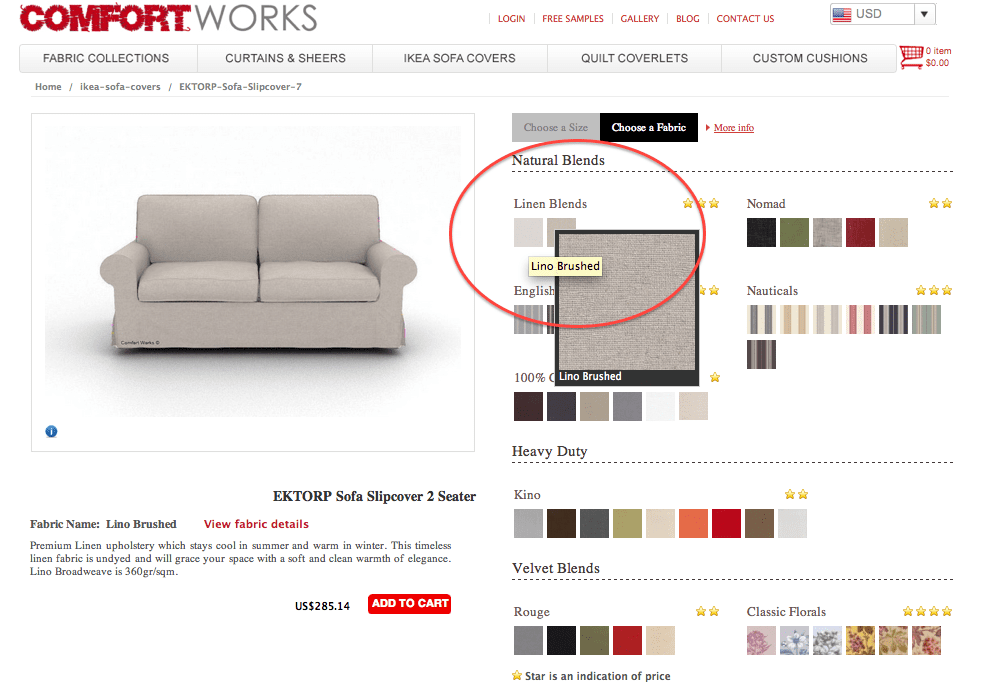 How to order a Comfort Works custom IKEA Sofa Slipcover?