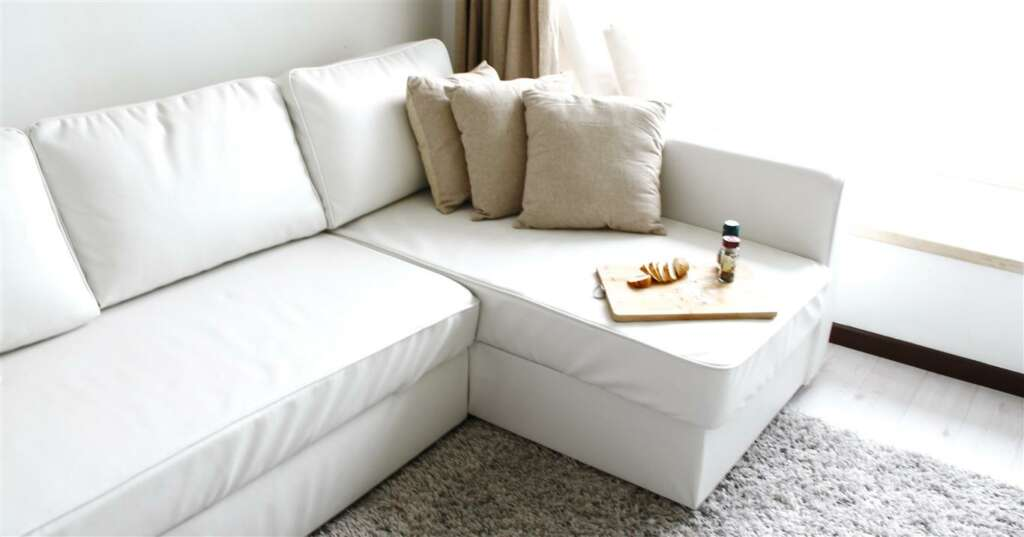 Comfort works manstad sofabed leather slipcover available - Divano ikea manstad ...