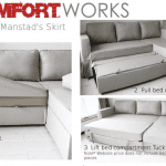 Under Manstad's Skirt - How does the bed compartment work with the Loose Fit Slipcovers?