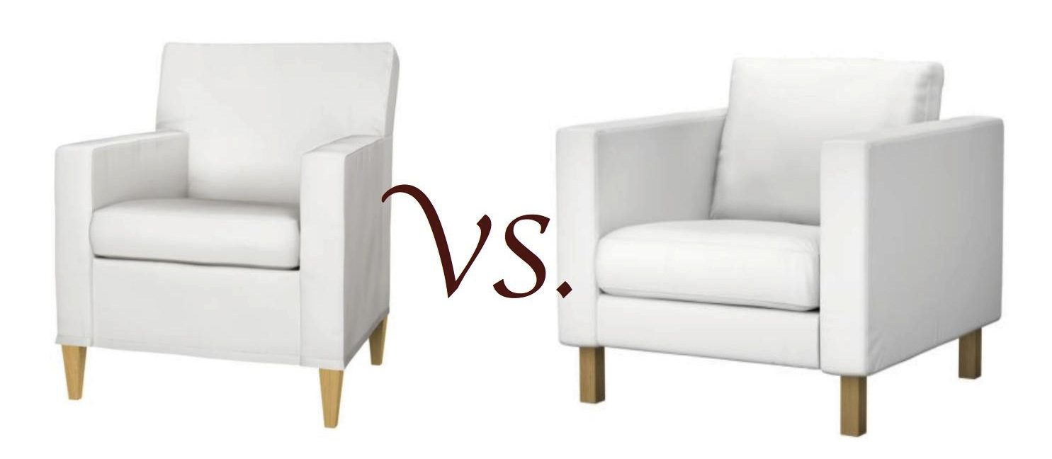 Guide to ordering Comfort Works Karlstad Armchair Slipcover| Armchair Differences