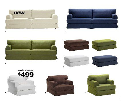 Ikea HOVAS sofa series