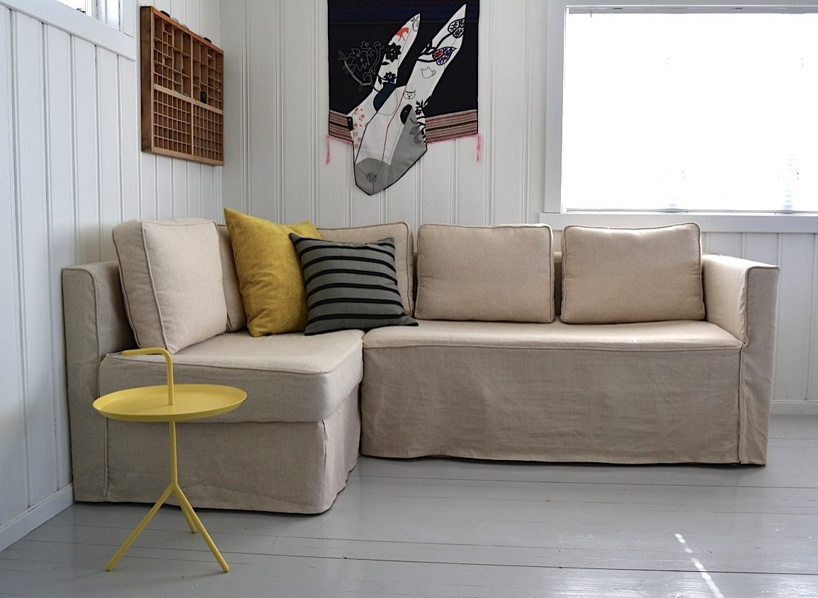 Fagelbo Loose Fit Slipcovers in Lino Vintage fabric from Comfort Works