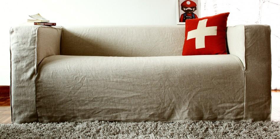 Linen Klippan Sofa Cover Overall