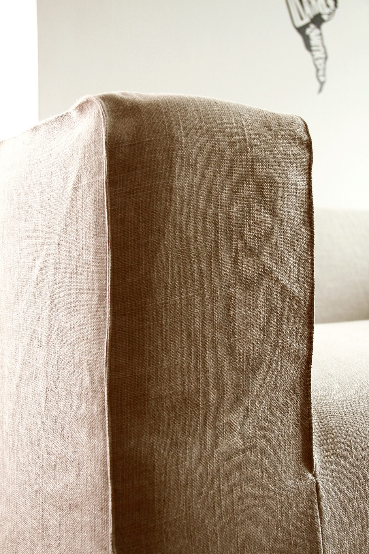 Spruce up your IKEA Klippan Sofa Cover in a Loose Linen Slipcover