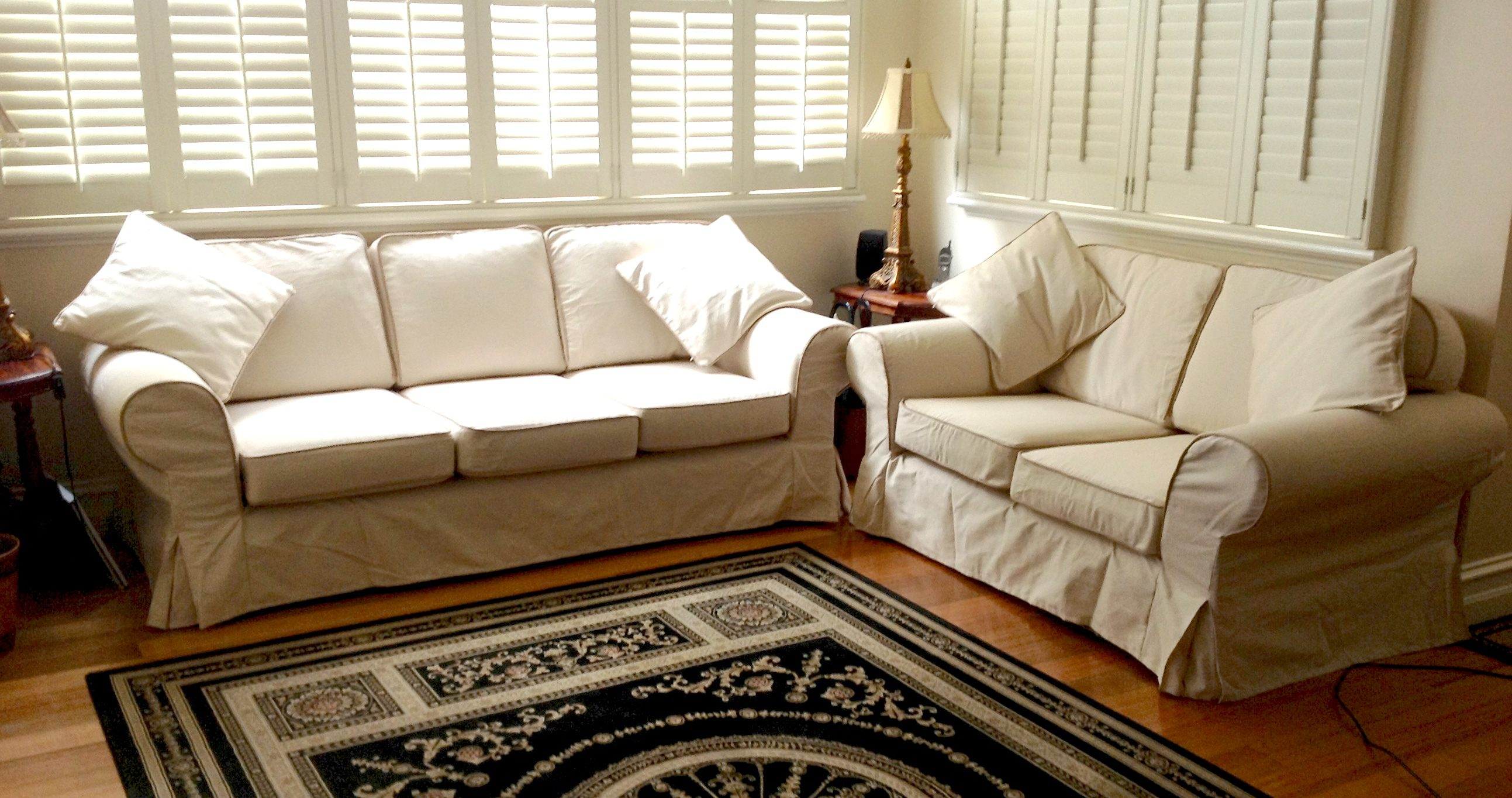 Custom slipcovers and couch cover for any sofa online Couch and loveseat covers
