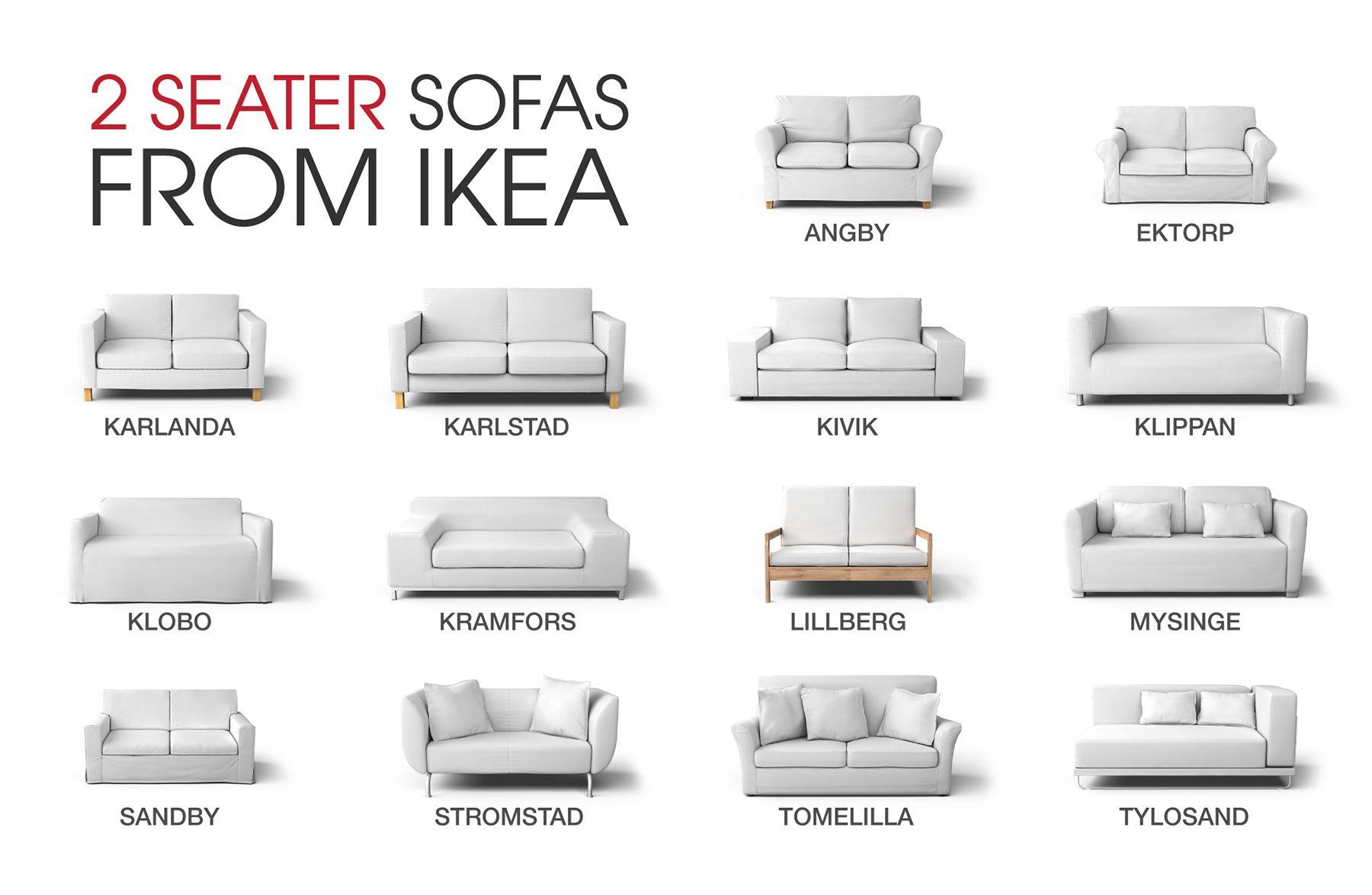 IKEA 2 Seater Sofas