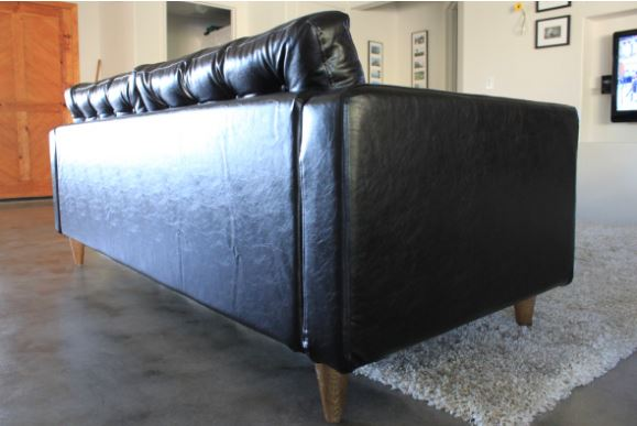tufted leather back karlstad