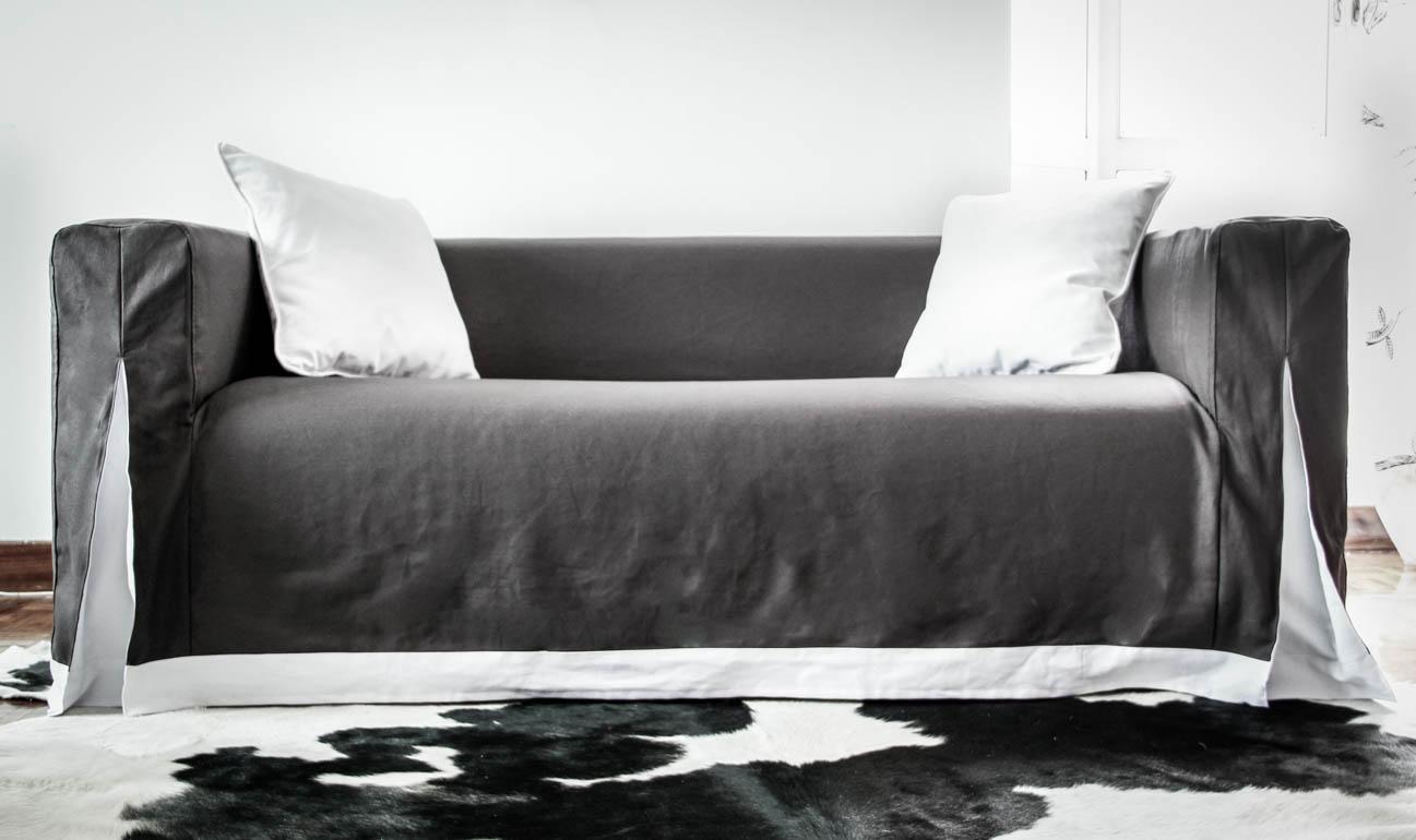 Beautify Your Ikea Sofa With Custom Long Skirt Slipcovers
