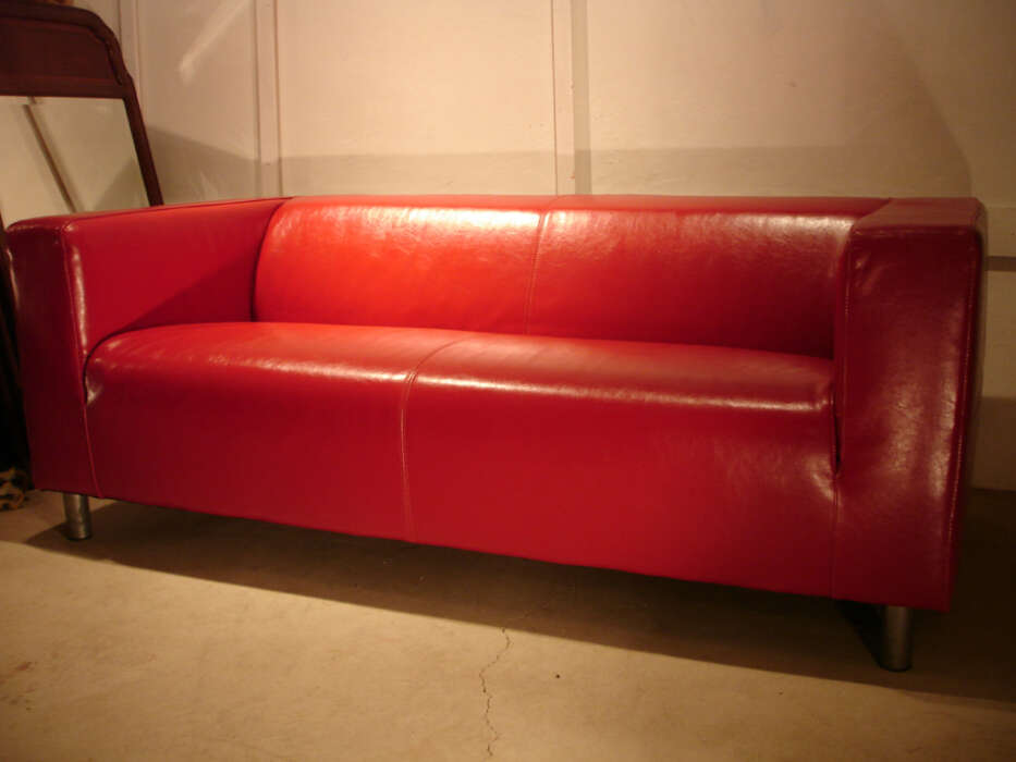 Leather Klippan Red