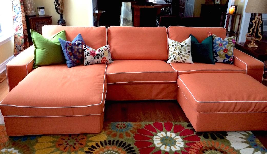 Serie Kivik in tessuto arancione