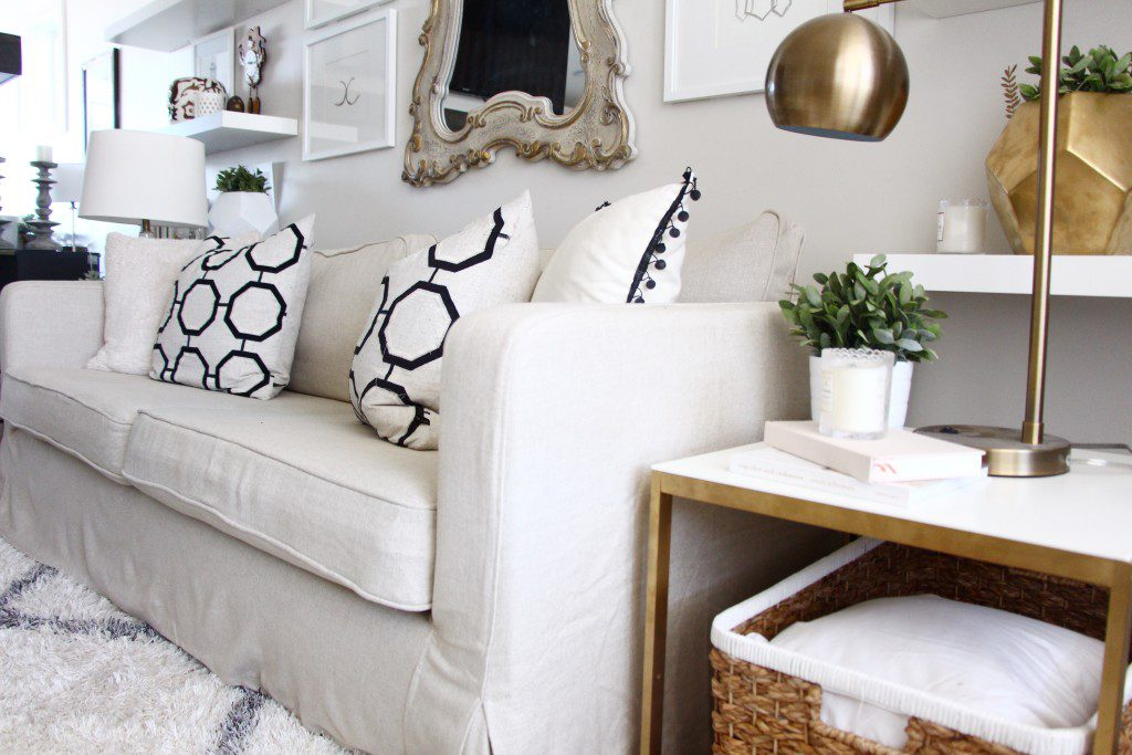 Beautify Your Ikea Sofa With Custom Long Skirt Slipcovers