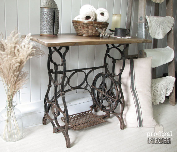 reclaimed sewing table