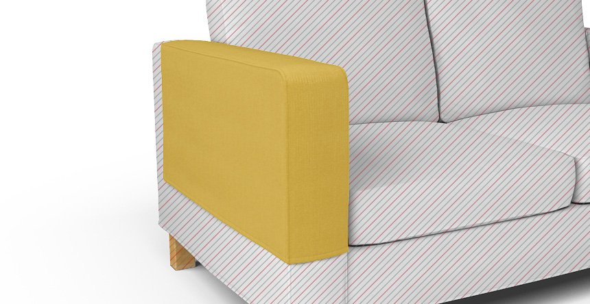 Karlanda 2 Seater Arm Rest Covers In Shire Mustard
