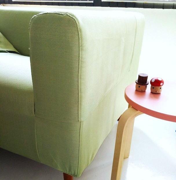 Klippan 2 Seater Armrest Cover in Kino Green