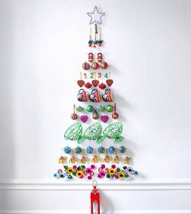 Left over baubles? Make them into another tree!