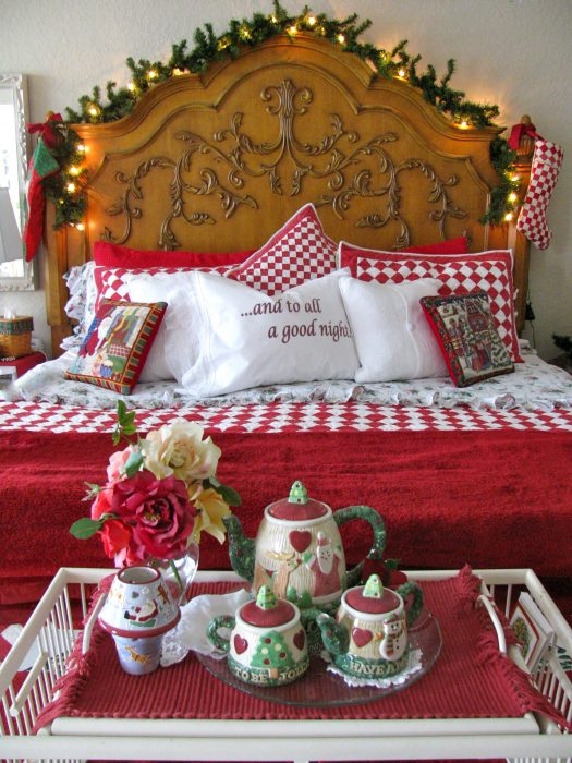Do up a loved one's bedroom when they stay over - the Christmas spirit doesn't stop after all