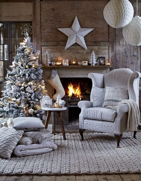 You don't need to conform to red and green for Christmas, follow your heart (room style)!