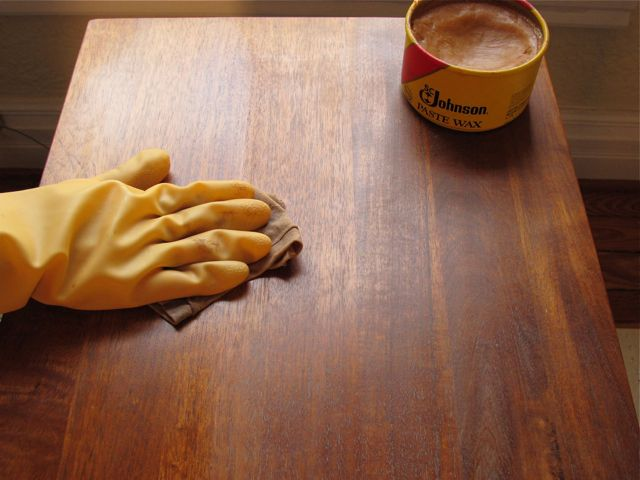 how to use solid beeswax on wood