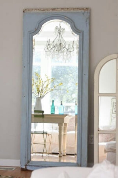 Our 9 favourite up cycling ideas around the house for Full length window mirror