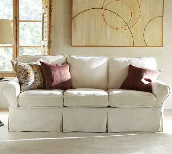 PB Basic Slipcovered Sofa