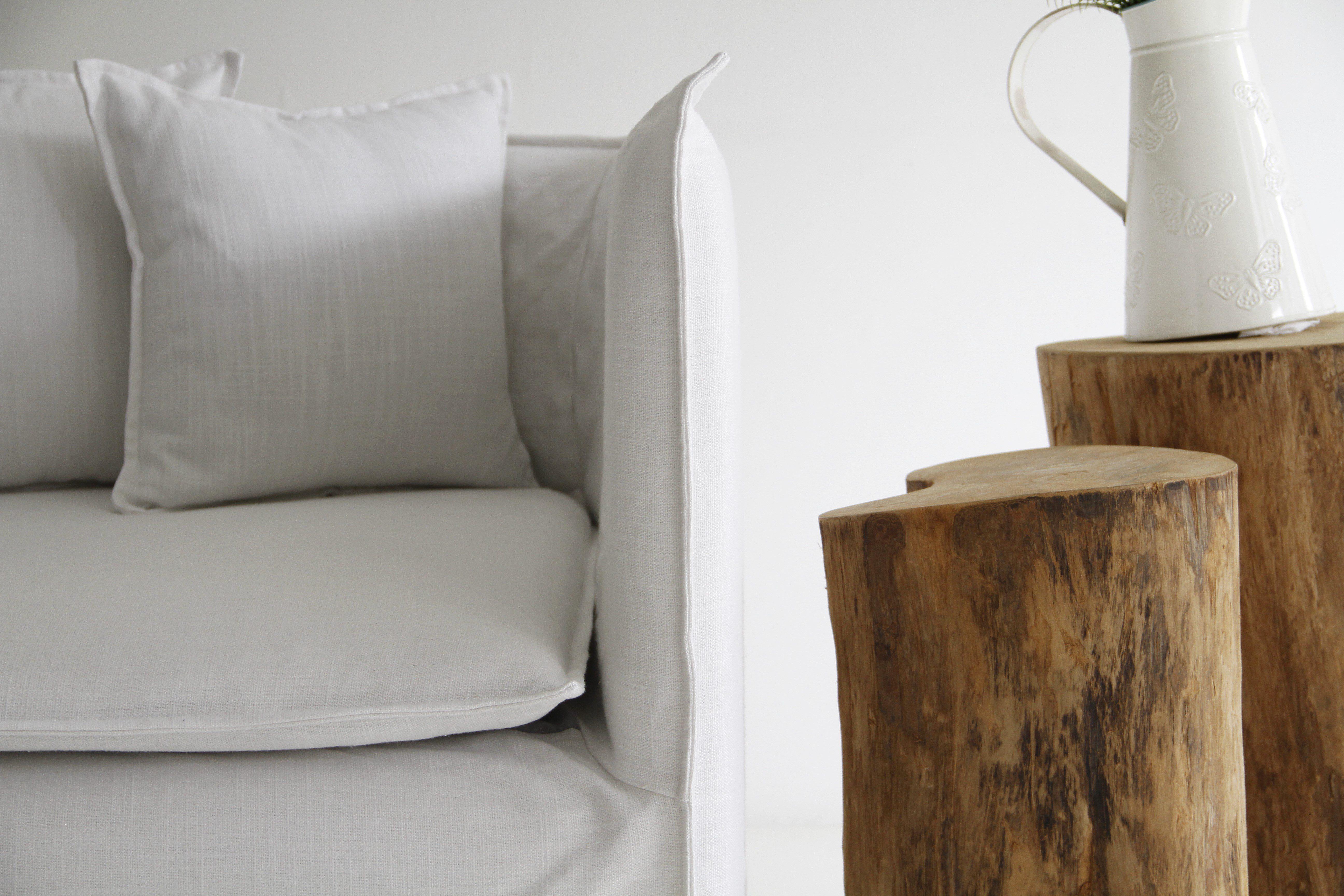Ghost Sofa hack on the Ikea Soderhamn sofa - custom slipcovers
