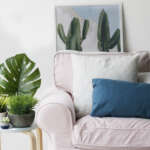 Ektorp slipcover in Rouge Blush by Comfort Works
