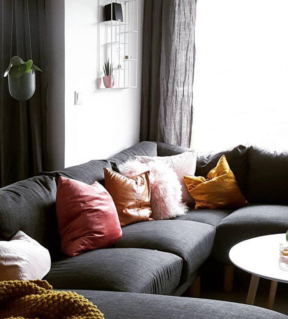 West Elm custom sofa slipcover