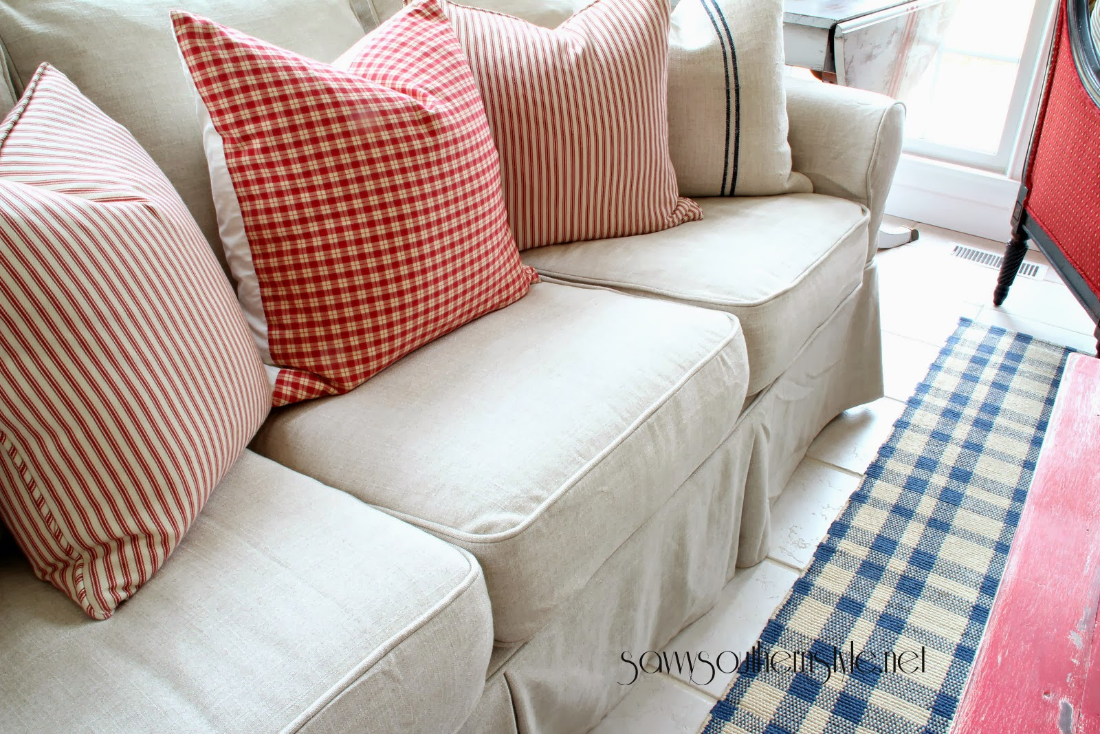 Savvysouthernstyle PB Basic sofa in Kino Natural