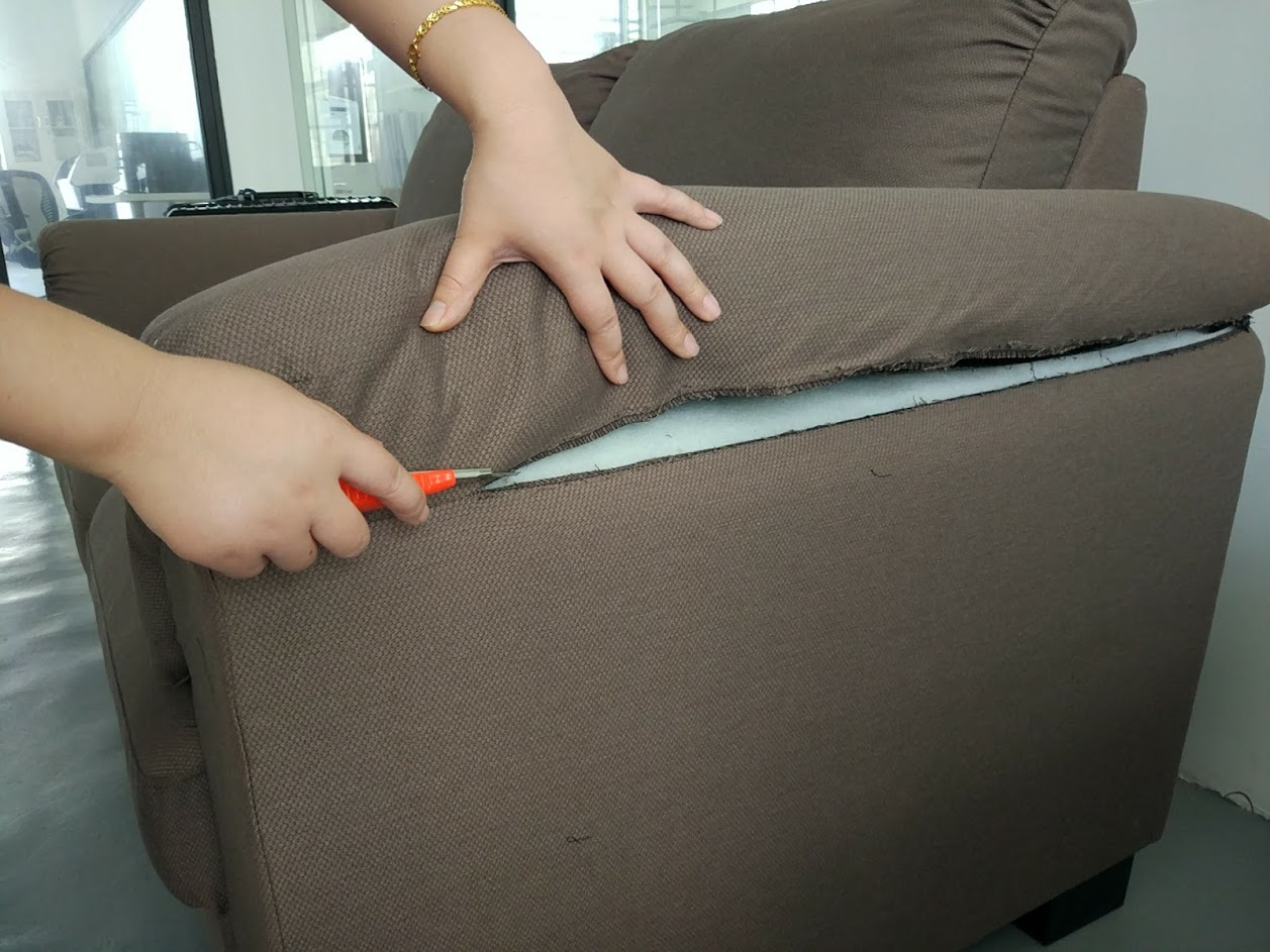 Cutting The Armrest Cushions