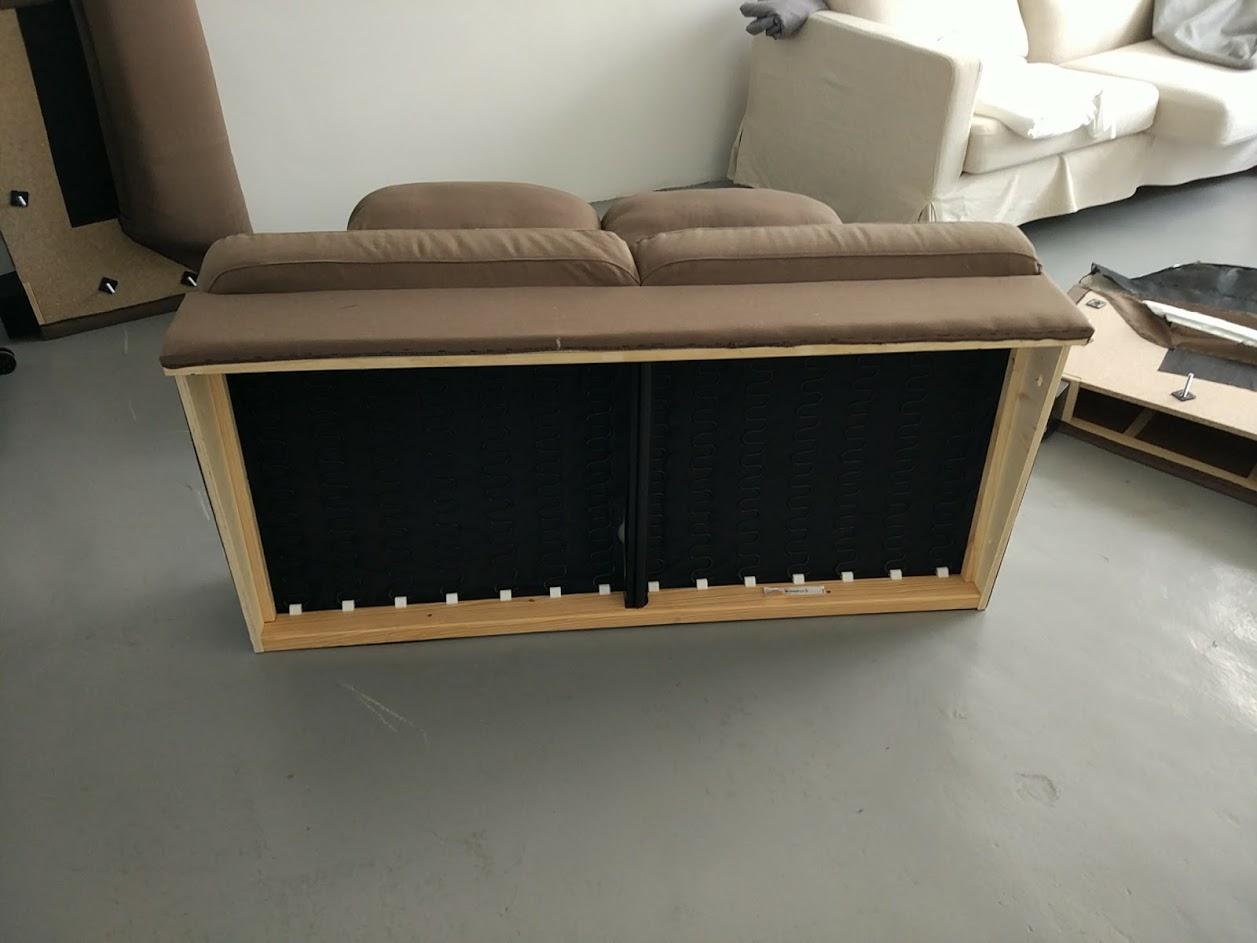 disassembled armrests
