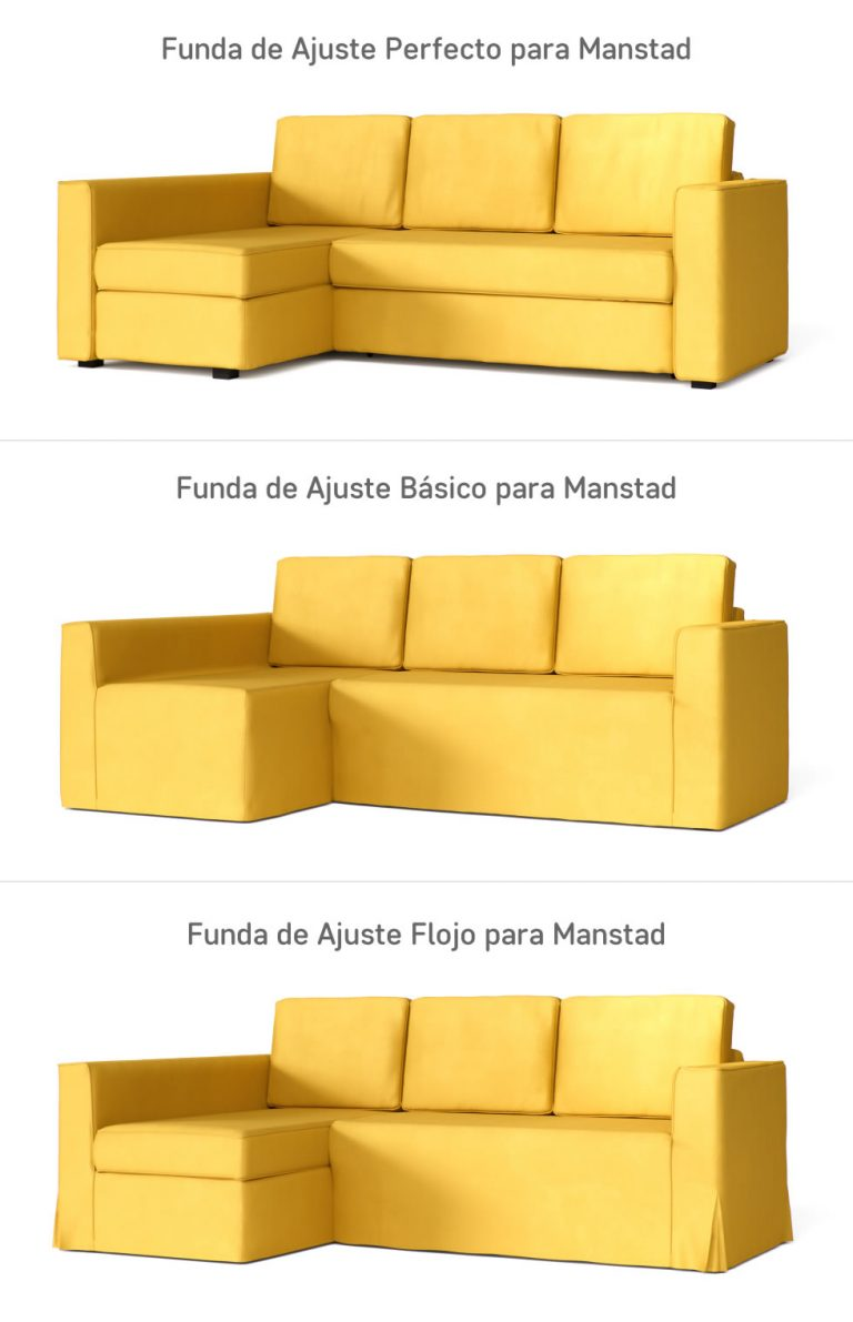 Fundas para Sofá Cama Manstad de IKEA - Distintos Tipos de Ajuste