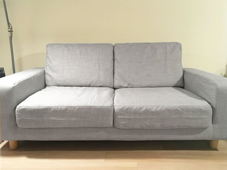 Comfort Works Slipcovers For Muji Wide Arm Sofa 2008 S Model In Light Grey Fabric Kino Ash