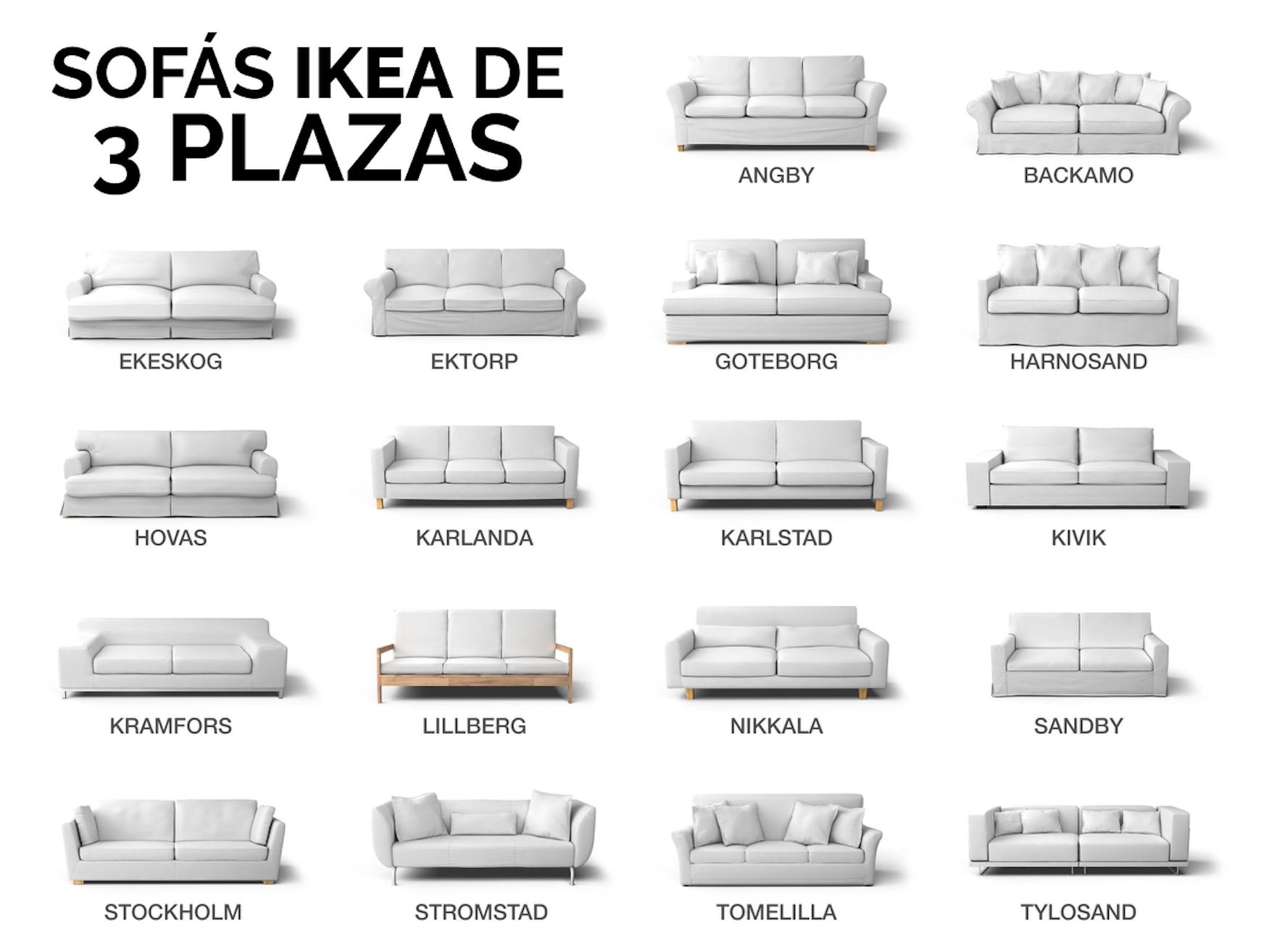 ¿Qué sofá IKEA de 3 plazas tengo? - Identifica tu sofá IKEA