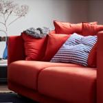Stockholm Sofa 2017 in Sandback Orange c/o IKEA