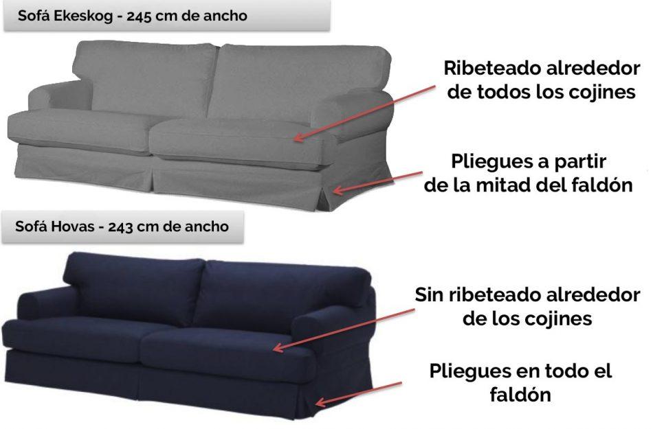 Diferencias Sofá IKEA Ekeskog y Sofá IKEA Hovas
