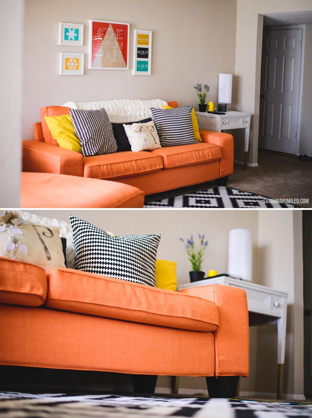 Kivik Sofa Cover in Kino Orange (Discontinued)