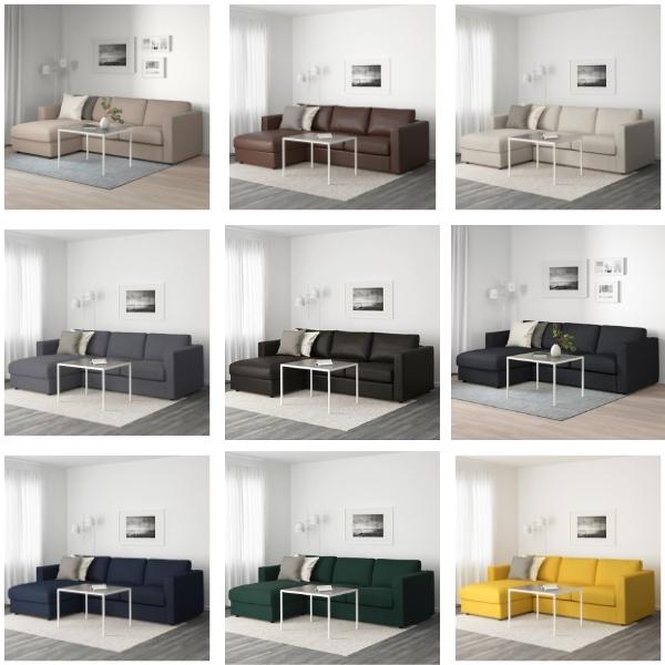 IKEA Vimle color selection