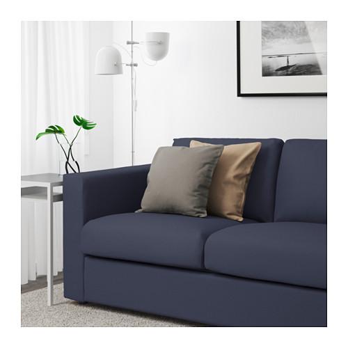 Living Room with IKEA Vimle sofa in Orrsta Black-Blue