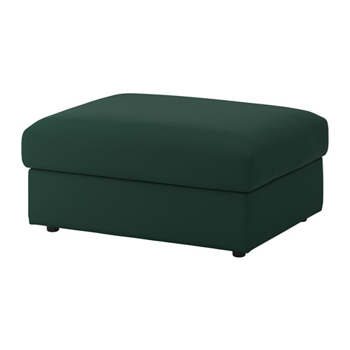 Picture of a green IKEA Vimle Ottoman with storage