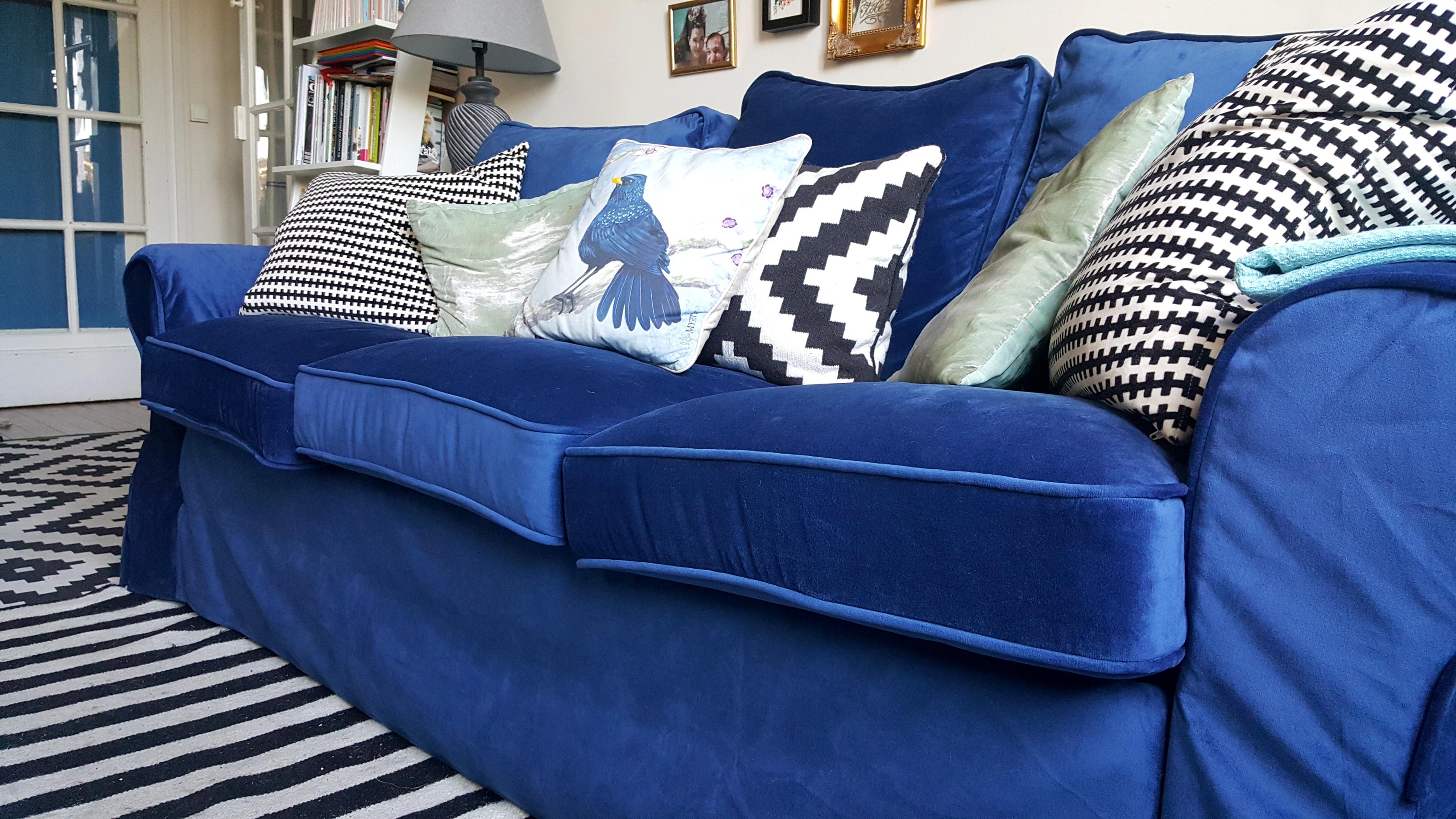 Funda sof ektorp ikea fotos de clientes y bloggers - Sofa terciopelo azul ...