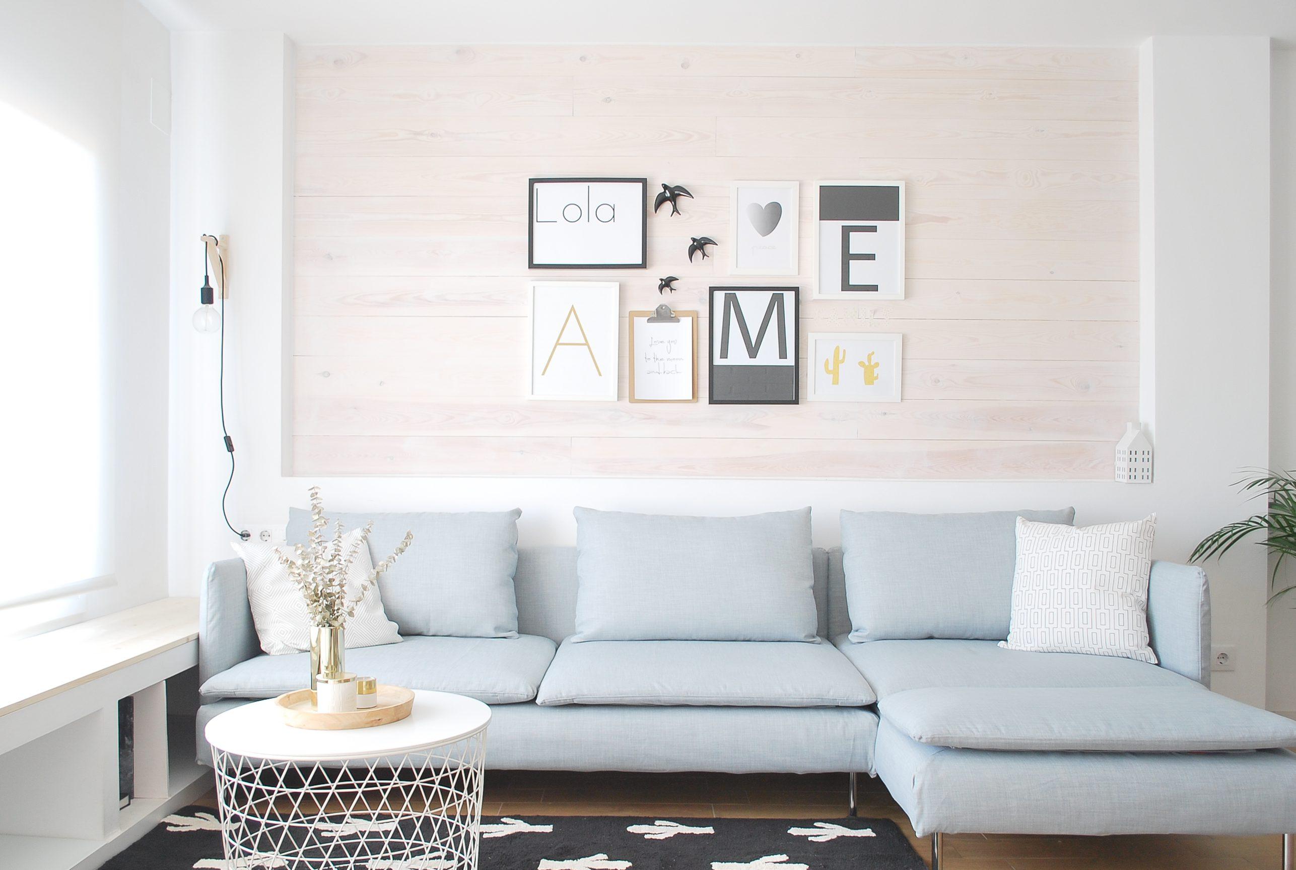Sofá Soderhamn con una funda para sofá Comfort Works