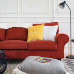 Ektorp Sofa Covers in Shire Rust by Comfort Works