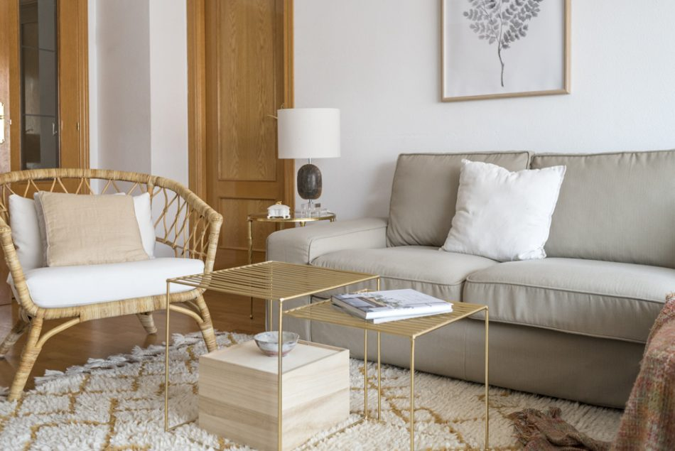 living room with Comfort Works slipcovers