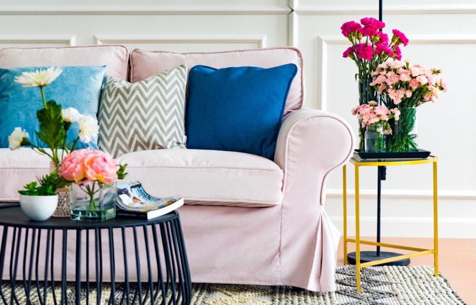 Ektorp Sofa Covers Rouge Blush